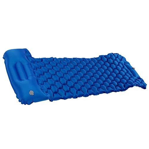 Cojín Inflable, colchoneta para Dormir portátil Resistente al desgarro, tamaño pequeño para Tiendas de campaña y hamacas para Acampar al Aire(Sapphire)