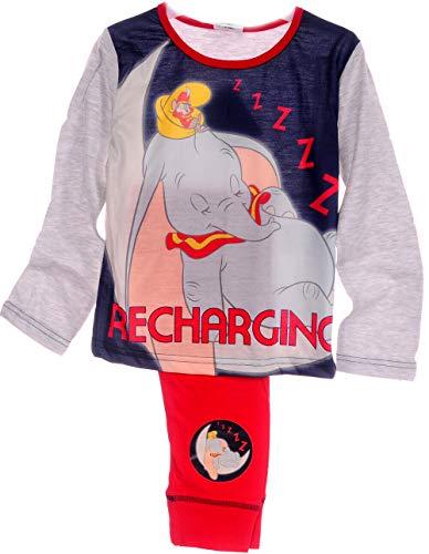 Pyjama Dumbo Disney Schlafanzug Hose Langarmshirt 116 122 128 134 140 146 152 (7-8...