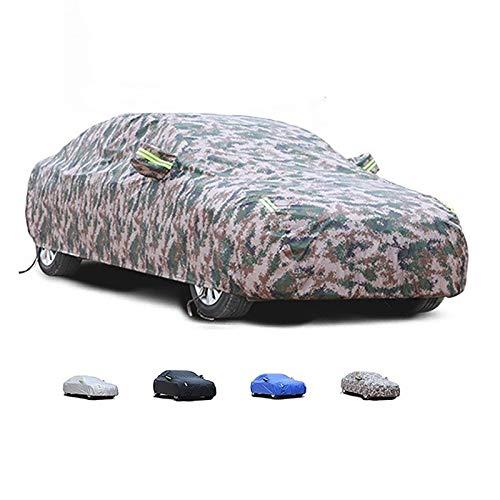 HWHCZ Kompatibel mit der Autoabdeckung OPEL Zafira, weiches und glattes Baumwollfutter, wasserdichter Sonnenschutz, staubdicht, Universal-Passform, vollständige Autoabdeckung Autoplanen