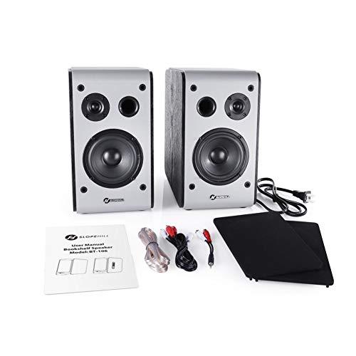 Best Prices! Forart Bookshelf Speakers Silk Dome Tweeter Premium Sound Speakers for Phones Tablets D...