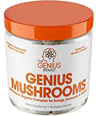 NURTURE YOUR MIND, BODY & SPIRIT – By combining 3 of the most researched mycological species on the planet, Genius Mushrooms deliver an organic wellness formula unlike any other: Enhance mental clarity, immune function, natural energy and more IMMUNE...