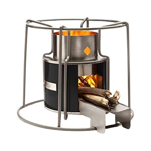 Rocket Stove Réchaud de Camping Réchaud de Camping à Bois Portable pour la randonnée, Le Camping, la Survie, Le poêle à biomasse - Pas de Piles ni de bidons de Carburant Liquide nécessaires