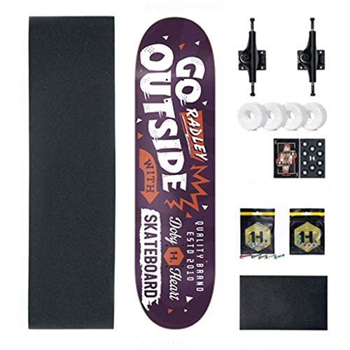 YXD Shortboard Skateboard Anfauml;nger Teen Boys und Girls Professionelles bilaterales Tilt Skateboard