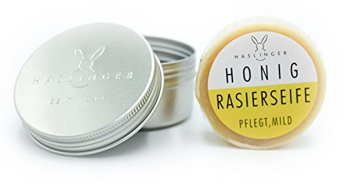 Haslinger Rasierseife Honig ca. 60g in Dose