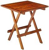 Bare Decor Ravinia Folding Teak Small Table, Oiled Finish, Brown, BARE-ET9040