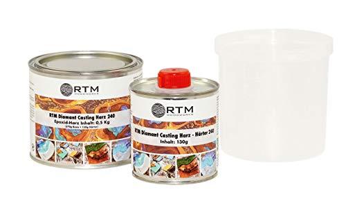 RTM WOODWORKS Diamant Casting 3D 2 Komponenten Epoxid Gießharz 240 Harz & Härter, Gewicht kg:0.5 kg