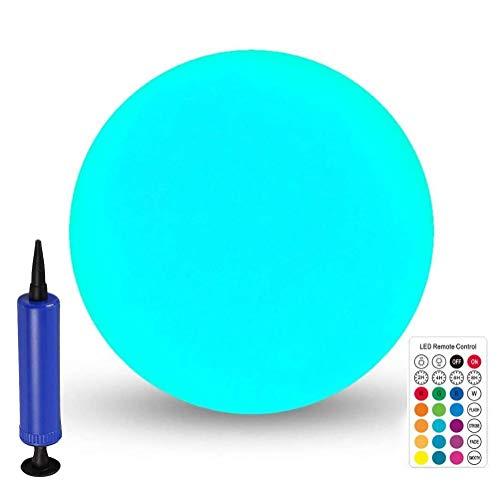 Kohyum Luz nocturna LED hinchable flotante con forma de bola RGB, cambio de color, luz nocturna para piscina Pond Yard