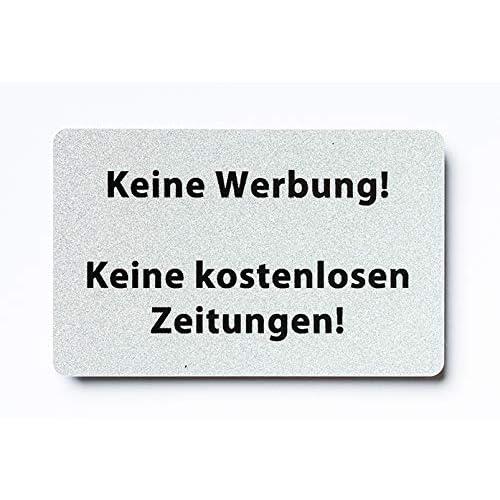 KaiserstuhlCard Magnet 2x Bitte keine Werbung magnetisch und selbstklebend Aufkleber T/ür Schild T/ürschild Briefkasten Briefkastenschild Haus Praxis B/üro Gesch/äft silber 5