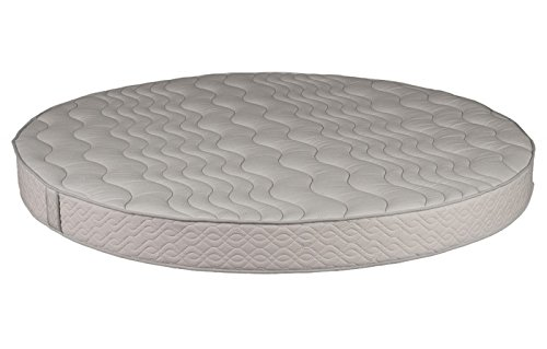 Best Prices! Round Foam Mattress (86 Diameter) with Quilted Cover 8 Height - High Density Premium ...