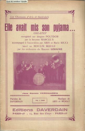 Elle avait mis son pyjama - Enregistré par le baryton Marcel\'s accompagné à l\'accordéon par Aris et Marion Ricci