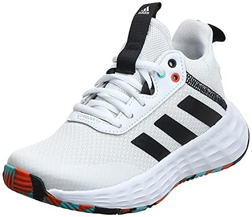 adidas OwnTheGame 2.0, Basketball Shoe, Cloud White/Core Black/True Orange, 37 1/3 EU