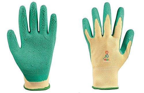 Junior Arbeitshandschuhe für Kinder JO-JO 4 KIDS, Schutzhandschuhe, Kinder Gartenhandschuhe, Arbeits Garten Handschuhe (1, 8-11 years)