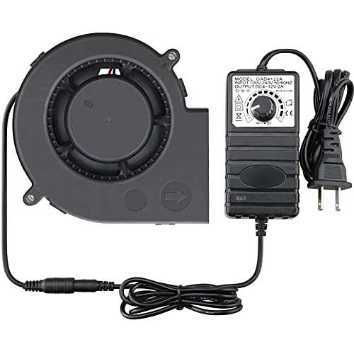 GDSTIME 97mm x 33mm DC Blower, 110V 220V AC Powered Fan 9733 with Variable Speed Controller for DIY Cooling Ventilation Exhaust Projects