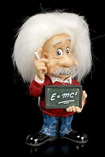 Veronese Studio Collection Albert Einstein Figur - E=mc² | Dekofigur, handbemalt