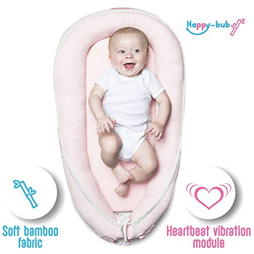 Why Choose Bamboo Super Soft Baby Newborn Lounger Pillow Bed: Happy-bub Portable Cosleeping Nest for...