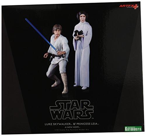 Kotobukiya Star Wars: Luke Skywalker and Princess Leia ArtFX+ Statue image