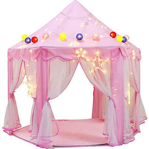 La tienda del juego Tienda de campaña PRiNCESS interior hexagonal de los niños de casa de muñecas de mosquitos de gran tamaño neta jugar a las casitas juego de la casa chica de separación en lecho est