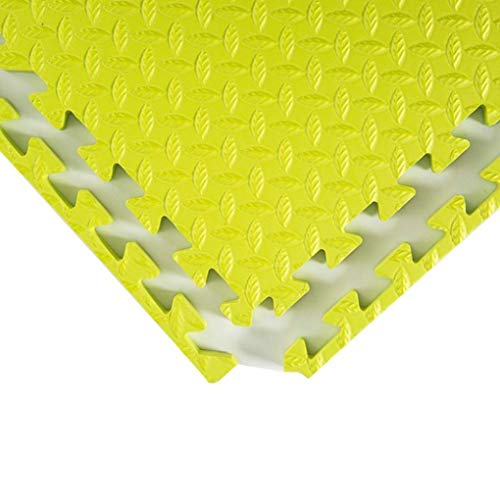 RUIXFFT Soft Tiles Crawling Animal Crawl Mat Gym Floor Mat, Enclavamiento espuma esteras, Puzzle EVA gym Floor Tiles, Cojín de goma antideslizante, Verde, 60x60x2.5cm-4pcs