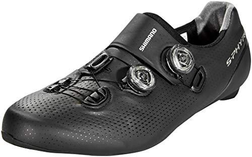 SHIMANO Zapatillas Sh M Rd Rc9 Sphyre Negro, Scarpe da Ciclismo Uomo, Nero (Nero 000), 43 EU