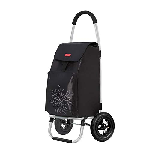 HLJ ST Lightweight Shopping Trolley 3 Wheels Stair Climbing Cart Foldable Cart Rolling Grocery Tote Handbag For Easy Storage