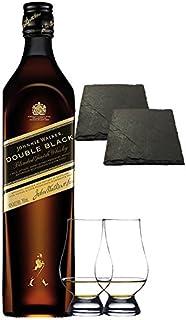 Johnnie Walker Double Black 0,7 Liter  2 Glencairn Gläser  2 Schieferuntersetzer ca. 9,5 cm