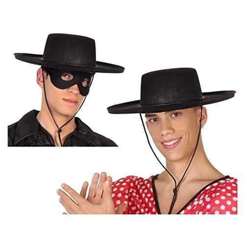 Atosa-59023 Sombrero Cordobés, color negro, única (59023)