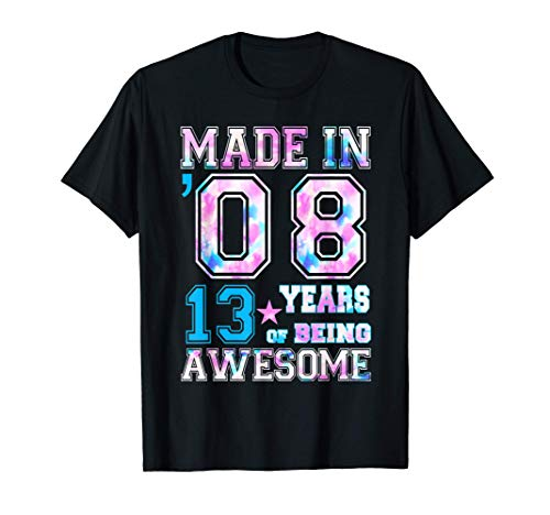 13 Year Old Girl Gifts For 13th Birthday Gift Born In 2008 T-Shirt