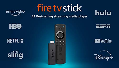 Product Image of the Fire TV Stick streaming media player with Alexa built in, includes Alexa Voice...