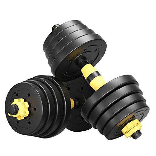 XIANGMIHU Adjustable Weight Dumbbell Sets, Free Weight Sets with Connecting Pairs, Easily Adjustable to Meet Your Exercise Needs, is The Best Adjustable Dumbbells for Your Home Gym. (yellow-30KG)
