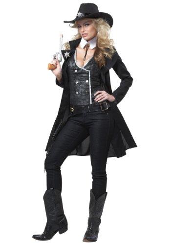 California Costumes 1184 Round' EM UP - Disfraz de adulto occidental, color negro, mediano