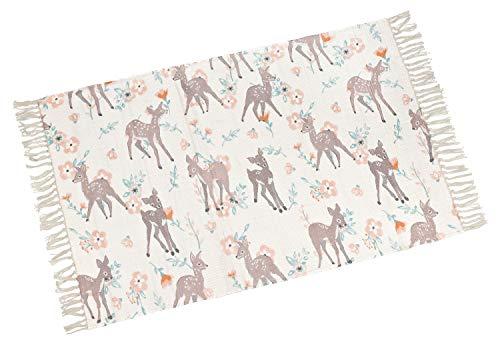 your castle Dekorativer Baumwoll Teppich für Schlafzimmer Kinderzimmer Motiv: Bambi, 80 x 120cm