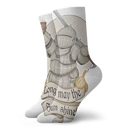 Bag hat Dark Souls Classic Lange Socken Frauen & Männer Sportlich Hohe Socken Für Fitnessstudio Wandern Laufen Strümpfe Zu Hause 11,8 Zoll