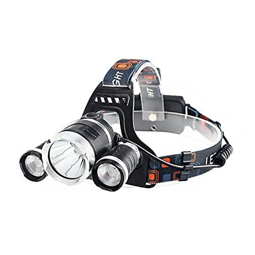 Hainice Antorcha de la Cabeza, LED FUDARIO USB Recargable SUPERGUBLE Fuerte LIGHTHE PEQUEÑO Light para Cambiar, Ciclo, STRIENDO, Senderismo, Pesca, Lectura Nocturna, Correr Enchufe de la UE (3 Luz)