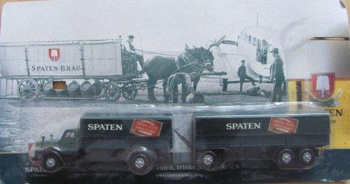 Spaten Nr.11 - Tafel Bier - ScaniaVabis L85 LH - Hängerzug Oldie