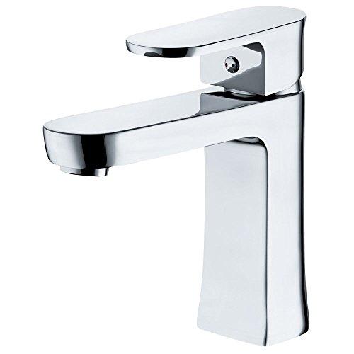 Waschbecken Waschtischarmatur Armatur Wasserhahn Mischbatterie Einhebelmischer Chrom Sanlingo Serie SAFA