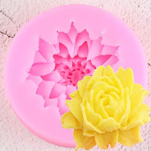 SIMUER Schöne Gänseblümchen-Blumenform Silikon-Kuchenform Backgeschirrform für Cupcake-Schokolade 3D-Fondant-Kuchen-Dekorationswerkzeuge