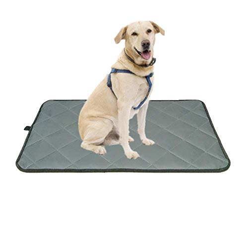 Voluka Dog Crate Bed Mat - Washable Kennel Pad, Anti - Slip Dog Crate Pad is Perfect for Dog Bed,Crate and Kennel, Grey (18Wx29L)