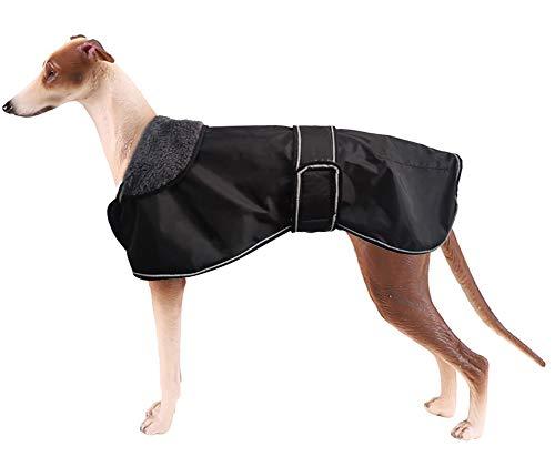 Morezi Wasserdichte Hundejacke für den Winter, mit warmem Fleece-Futter, Outdoor-Kleidung, mit verstellbaren Bändern für mittelgroße und große Hunde