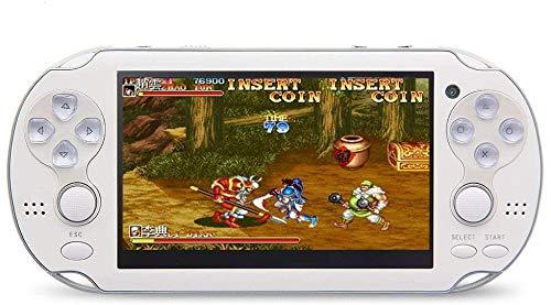 Juegos De Videojuegos De La Consola De 8 GB De 4,3 Pulgadas De Doble Palanca De Mano Consola De Juegos De Construcción En El Año 1200 Arcade/Neogeo/CPS/FC/SFC/GB/GBC,Blanco