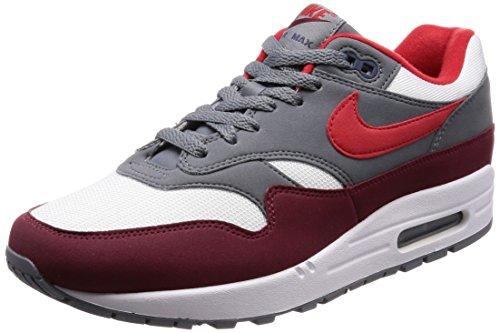 Nike Air MAX 1, Zapatillas de Running Hombre, Multicolor (White/University Red 100), 42.5 EU