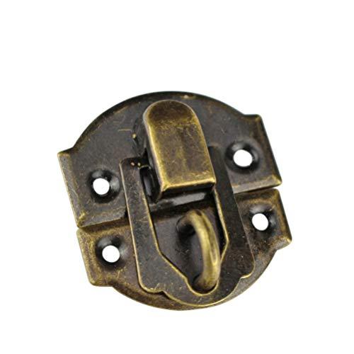 SUPVOX - Lote de 10 cajas de joyas antiguas con cerradura de candado vintage para cajones, maletas