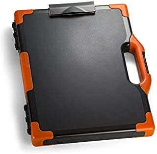 tecmac New Carryall Clipboard Storage Box Letter/Legal Size Black and Orange (83326)