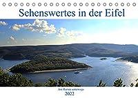 Sehenswertes in der Eifel - Am Rursee unterwegs (Tischkalender 2022 DIN A5 quer): Einmal um den Rursee (Monatskalender, 14 Seiten )