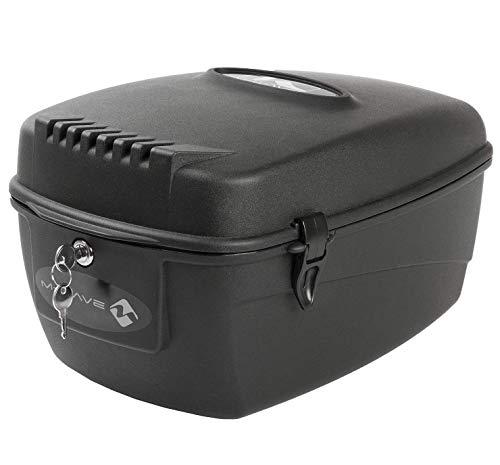 P4B | abschließbare Fahrrad Gepäckträger Box | inkl. 2 Schlüssel | Wasserfest | Gepäckträger-Montage | Kunststoff-Fahrrad-Box | in Schwarz