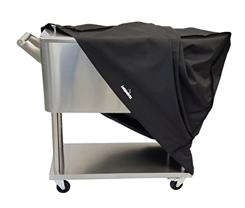 Cooler Cart Cover - Universal Fit For Most 80 QT Rolling Cooler (Patio Cooler On Wheels, Beverage Cart, Rolling Ice Chest, Party Cooler) Protective Cover, Water Proof