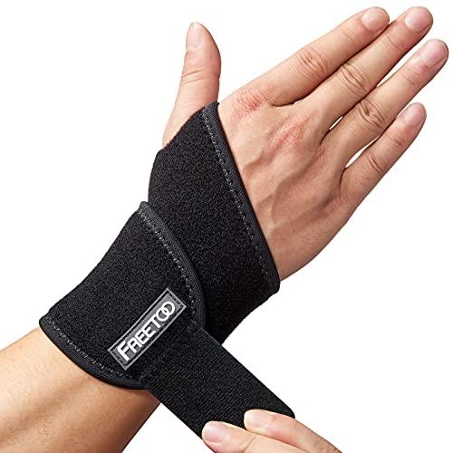 FREETOO Handgelenk Bandagen Fitness,Bandage Handgelenk Rechts und Links,Handgelenkstütze Damen und Herren für Sehnenscheidenentzündung,Handgelenkschoner für Kraftsport,Crossfit-Rechts