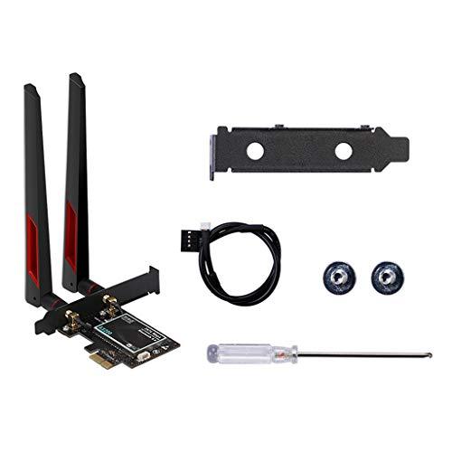 huiingwen Wireless WiFi Adapter PCI Express Bluetooth 5.0 2.4G / 5Ghz PCIe Desktop Wireless Dual Band 2400 Mbps for TEL AX200 802.11ax Card