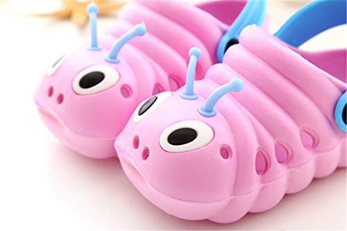 TMEOG Sandalias de bebé Sandalias de Niñas y niños Zuecos Cute Caterpillar Slip On Lightweight Kid