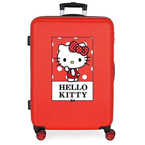 Hello Kitty Bow Valise Moyenne Rouge 48x68x26 cms...