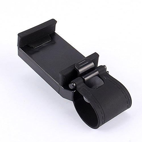 Soporte para teléfono para automóvil montado, en el volante Soportes de montaje de clip para teléfono móvil inteligente con una almohadilla de silicona suave para la fijación de bicicletas en el volan